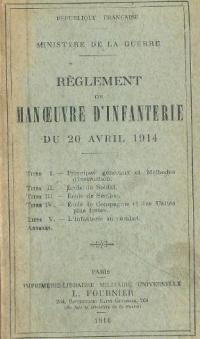 Le Règlement de manœuvres d'avril 1914