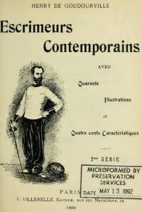 Escrimeurs contemporains