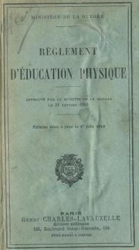 Reglement d'éducation physiqe du 20 janvier 1910