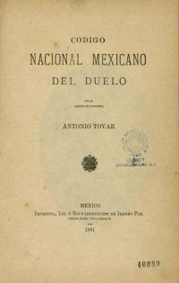 Código Nacional mexicano del duelo
