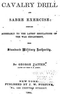 Cavalry drill and sabre exercise; compiled agreeably to the latest regulation of the War Department, from standard military authority
