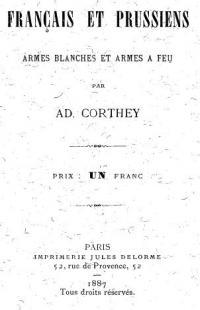 Français et Prussiens, armes blanches et armes à feu