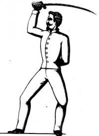 Trattato teorico-pratico di spada e sciabola, e varie parate di quest' ultimo contro la baionetta e la lancia. Operetta illustrate da 30 figure incise, con ritratto dell' autore compilata da Cesare Alberto Blengini