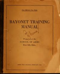 Bayonet Training Manual