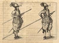 Deutliche Beschreibung von dem Exerciren in der Musquete und Pique = Declaration Ponctuëlle De L'Exercice Du Mousquet Et De La Pique : In vier Theil abgetheilet, Als Erstlich, Wie ein einzelner Musquetirer die Musquet zierlich loßschiessen, und geschwinde wiederum laden soll ... Zum Andern, Von dem Exercitio mit dem Tropp oder Compagnie ... Drittens, Von dem Exercitio mit der Compagnie oder Regiment im Chargiren ... und Vierdtens, Von dem Exercitio mit der Compagnie oder Regiment im Chargiren ... sich so wohl gegen Infanterie als Cavallerie zu defendiren, und wie Bataillen zu stellen / Mit sonderbahren Fleiß nach heutiger Manier beschrieben, und mit vielen nöthigen Kupffern ausgebildet.