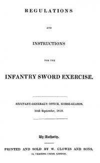 Regulations and instructions for the infantry sword exercise