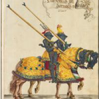 Turnierbuch - Kopie nach dem Original von Hans Burgkmair