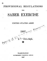 Provisional Regulations for Sabre Exercise