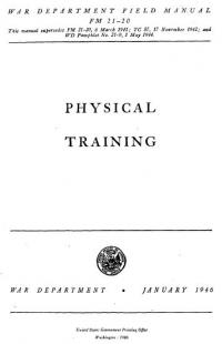FM 21-20 War Department Field Manual - Physical Training