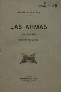 Las armas en Madrid: cartas sobre la esgrima