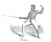 The fencer's manual: a practical treatise on the small-sword exercises also, single-stick play, defence of sabre against bayonet, cavalry, &c., club exercises, preparatory extension motions, hint to professors and amateurs; &c., &c.: with illustrations by Robert Meikle