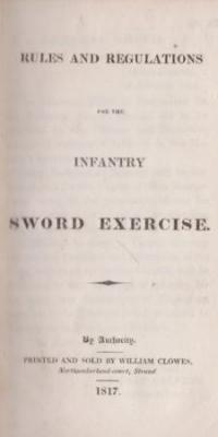 Rules and regulations for the infantry sword exercise