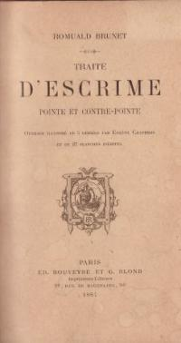 Traité d'escrime; pointe et contre-pointe