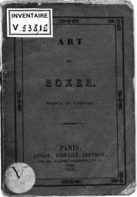 Théorie de l'art de boxer