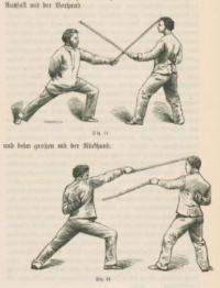Das Geräthfechten: das Stock -, Stab-, Säbel- und Schwertfechten
