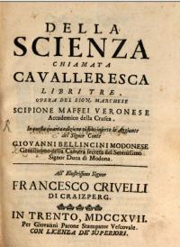 Della scienza chiamata cavalleresca