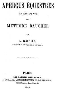 Aperçus équestres au point de vue de la méthode Baucher