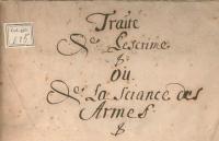 Traité de l'escrime ou de la science des armes