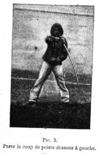 L'emploi du sabre. Etude raisonnée du combat á l'arme blanche d'aprés les principes posés par le réglement sur les exercices de la cavalerie du 31 Mai 1882