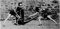 Reconstitution conjecturale de la technique de combat des gladiateurs antiques