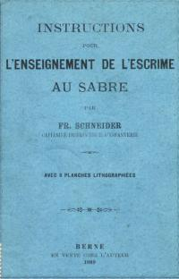 Instructions pour l'enseignement de l'escrime au sabre
