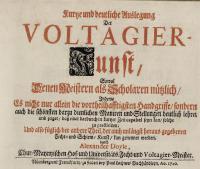 Kursse und deutliche Vuslegung Der Voltangier-Kunst