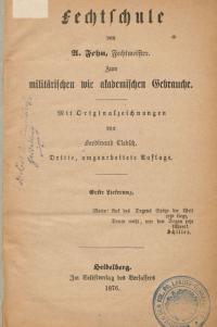 Fechtschule von A. Fehn, Fechtmeister.