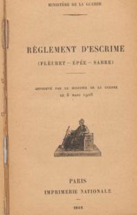 Règlement d'escrime (Fleuret - Épée - Sabre)