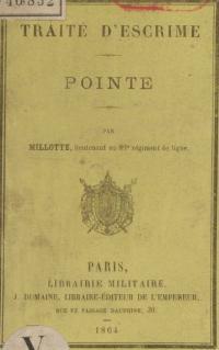 Traité d'escrime, pointe, par Millotte