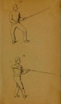 Instruktion i gymnastik och bajonettfäktning før infanteriet