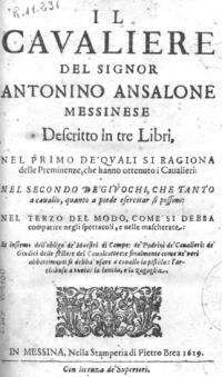 Il cavaliere descritto in tre libri