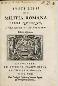 De militia romana libri quinque, commentarius ad polybium