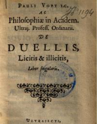 De duellis, licitis et illicitis, liber singularis