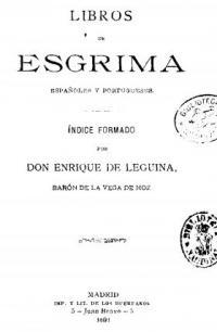Libros de esgrima espańoles y portugueses