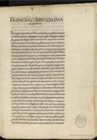 Carta de Francisco de Abreo de Lima, lusitano, al Licenciado Miguel Sánchez del Hierro Salazar, vecino de la ciudad de Sevilla, sobre esgrima [Manuscrito]