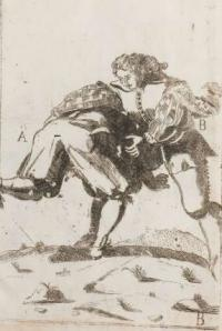 Der künstliche Ringer: oder Dess Weyland Wolgeübeten und berühmten Ring-Meisters Niclaus Petters kurtze jedoch klare Unterweisung und Anleitung zu der fürtrefflichen Ringe-kunst in mehr als 70 Figuren vorgestellet, und ins Kupffer gebracht durch Romeyn de Hooge