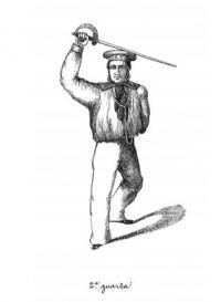 Manejo e esgrima de sabre naval e de sabre bayoneta