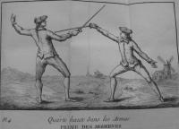 L'art des armes, ou l'on donne l'application de la théorie á la pratique de cet art, avec les principes méthodiques adoptés dans nos ecoles royales d'armes. Tome premiere
