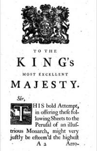 The army's regulator or the British Monitor: 3 parts. 1: The frequent infringement upon his Majesty's articles of war. 2: With a vindication of the sword. 3: How the government may save Ł100,000 a year by regularity in furnishing his majesties forces with sufficient horse, arms, accoutrements, cloathing, etc.