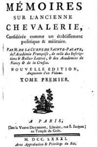 Mémoires sur l'ancienne chevalerie; considerée comme un établissement politique & militaire. Tome premier