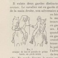 Traité d'escrime équestre, rédigé par Pierre de Coubertin et Louis Pascaud
