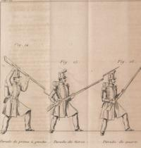 Théorie de l'escrime á la baionnette, ornée de 16 figures, par J. H. Pinnette
