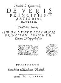 De veris principiis artis dimicatoriae, tractatus brevis, ad jllustrissimum principem Ioannem ducem Megapolensem