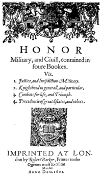 Honor Military, and Civill