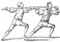 The English fencing-master, or, The compleat tuterour of the small sword. Wherein the truest Method, after a Mathematical Rule, is plainly laid down. Shewing also how necessary it is for all Gentlemen to learn this Noble Art. In a Dialogue between Master and Scholar. Adorn'd with several curious postures.