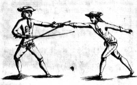 The Art of Fencing, or the use of the small sword. Translated from the French of the late celebrated Monsieur L'Abbat, master of that Art at the Academy of Toulouse, by Andrew Mahon, Professor of the Small Sword in Dublin