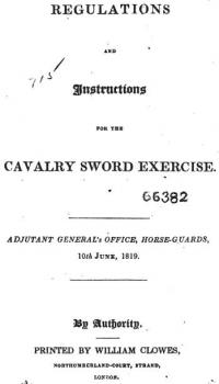 Regulations and instructions for the cavalry sword exercises