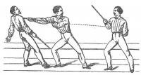 Nouvelle théorie du jeu de la canne, ornée de 60 figures, indiquant les poses et les coups