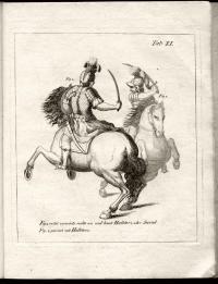 Gründliche Abhandlung der Fechtkunst auf den Hieb zu Fuss und zu Pferde zum gebrauch der cavallerie mit kupfern