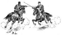 Instruktion i sabelfäktning för kavaleriet